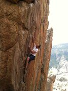 Rock Climbing Photo: Shaun Epperson eyes the first break on Psychatomic...