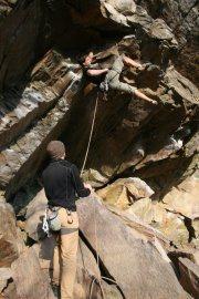 Rock Climbing Photo: Rob on Oby-won Ryobi