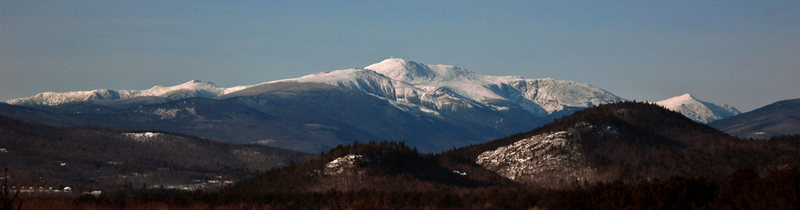 Rock Climbing Photo: East flank of Mt. Washington and the Presidentials