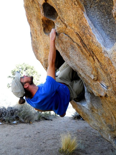 Rock Climbing Photo: Double kneebar at the start.