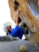 Rock Climbing Photo: Double kneebar at the start.