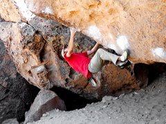 Rock Climbing Photo: The hard starting moves.