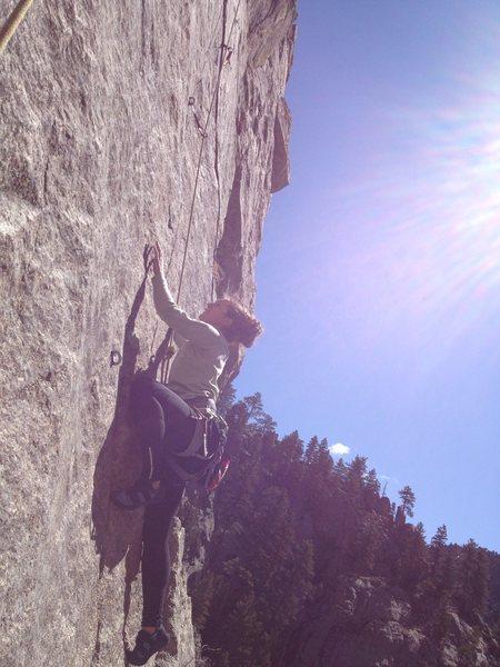 Rock Climbing Photo: Veronica sending.