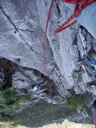 Rock Climbing Photo: Chris Martinez on the fourth pitch of 5 am Breakfa...
