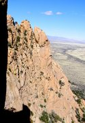 Rock Climbing Photo: The upper part of the Wastelands descent.