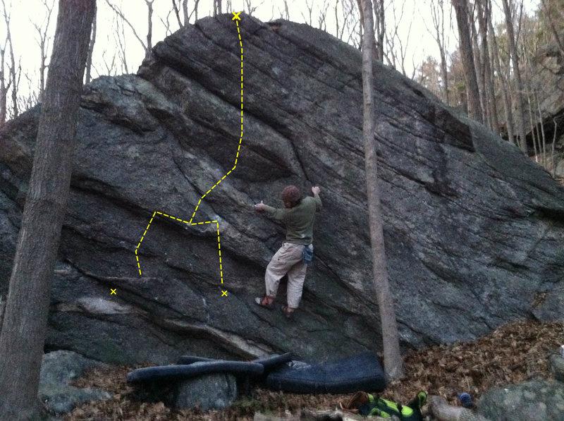 Rock Climbing Photo: Crescent Moon