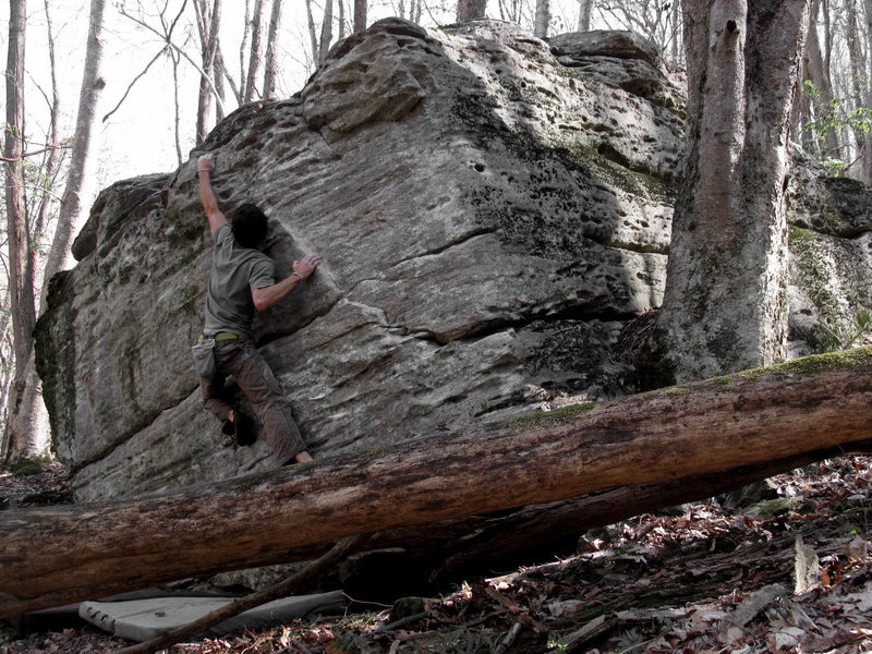 "Rock Climbing Photo: Aaron James Parlier on the FA of ""Secret Squi..."