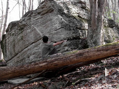 Rock Climbing Photo: Aaron on the sit start