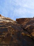 Rock Climbing Photo: Mo leading P2