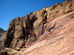 Rock Climbing Photo: way to the rap station for the Chicken Lips descen...