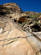 Rock Climbing Photo: traditional slither at the bottom of the Chicken L...