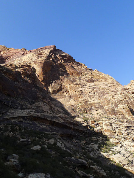 Rock Climbing Photo: looking back at the route