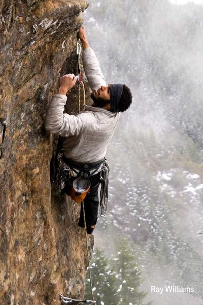 Rock Climbing Photo: Ray Williams, March climbing Kaluha Krypton on the...