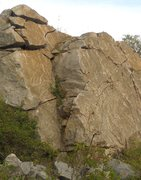 Rock Climbing Photo: this is the line, its the crack in the smooth face...
