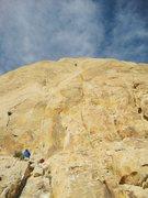 Rock Climbing Photo: Nearing top of P1