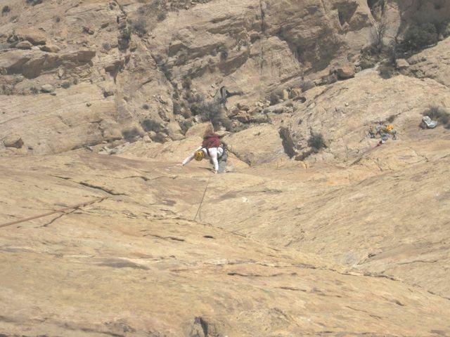 Rock Climbing Photo: Andy following P1