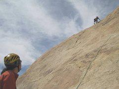 Rock Climbing Photo: Paul on P2