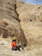 Rock Climbing Photo: Shingo belaying Andy on P4
