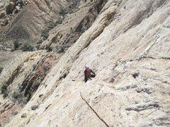 Rock Climbing Photo: Paul folloving P4. Photo Andy Ross