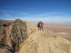 Rock Climbing Photo: Paul and Shingo. View to the north.
