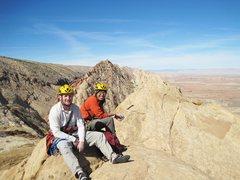 Rock Climbing Photo: Andy and Shingo.