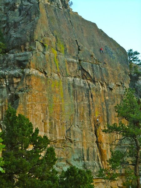 Sunset on the best -in town- sport climbing face, the Watch Crystal.