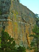 Rock Climbing Photo: Sunset on the best -in town- sport climbing face, ...