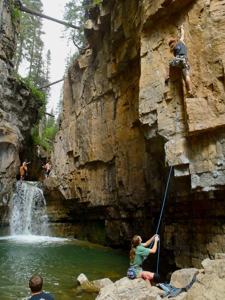 Cascade: Gorgeous setting, fun routes, good summer swimming, better winter ice and mixed climbing.