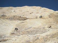 Rock Climbing Photo: Paul starting P1 .Just below bolt placements