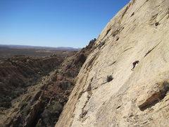 Rock Climbing Photo: Paul higher on P1