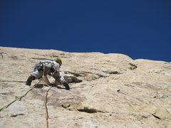 Rock Climbing Photo: Andy staring P2