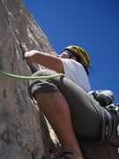 Rock Climbing Photo: Shingo starting P3