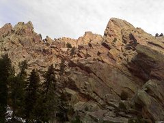 Rock Climbing Photo: The West Ridge in Eldo