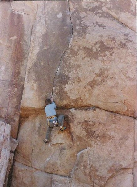Rock Climbing Photo: Anne Carrier on Waltzing Worm, 1988.