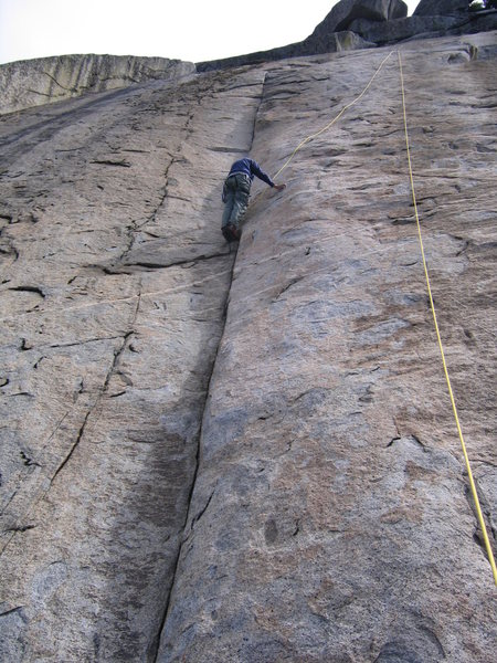 Rock Climbing Photo: Center Crack - Sunday Morning Slab