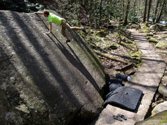 Rock Climbing Photo: Ross on Cascades Slab (Right)