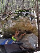 Rock Climbing Photo: Ross Starting the problem