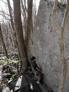 """Rock Climbing Photo: Aaron James Parlier on the FA of """"Pyramid Sch..."""