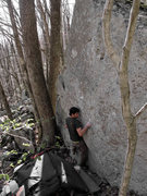Rock Climbing Photo: Aaron James Parlier one move off of the start on &...
