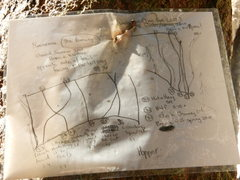 Area topo that was posted at the crag.