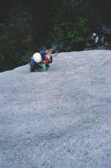 Rock Climbing Photo: FA of Strait on for You, Prune Face Slab