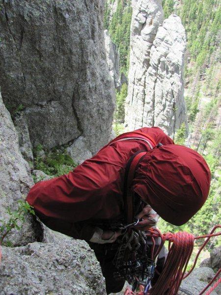 Rock Climbing Photo: P1 belay McNeil photo