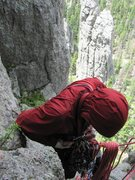 Rock Climbing Photo: P1 belay McNeil photo