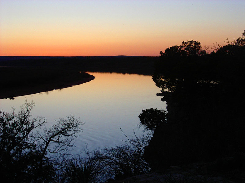 Sunset at Paradise On the Brazos in Jan 2003