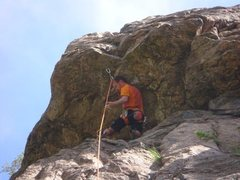 Rock Climbing Photo: A nice rest before the crux roof.