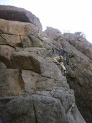 Rock Climbing Photo: Climbs like a gym route, but not as tall.  Big jug...