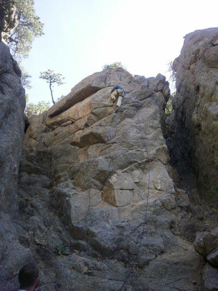Rock Climbing Photo: Approaching the anchor.