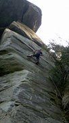 Rock Climbing Photo: Much steeper and better than it looks.  It climbs ...