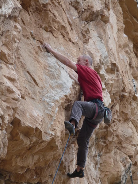Rock Climbing Photo: EFR crushing the coolest move on the route.