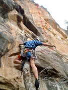"Rock Climbing Photo: ""Totally high"" keeps left of the imposin..."
